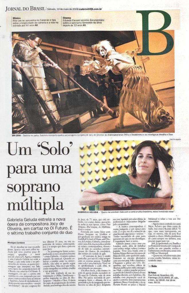 Monique Cardoso | Jornal do Brasil, 10/05/2008