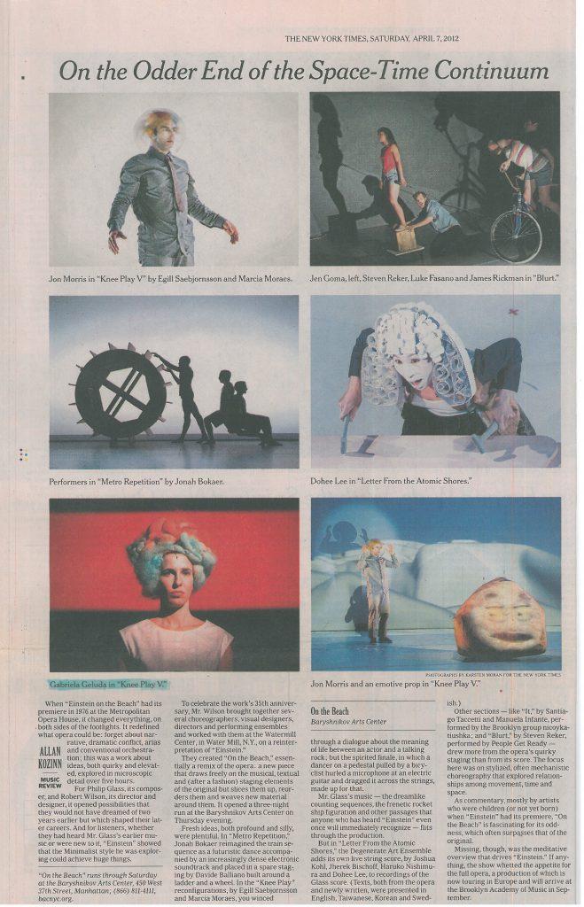 Allan Kozinn | New York Times, 07/04/2012