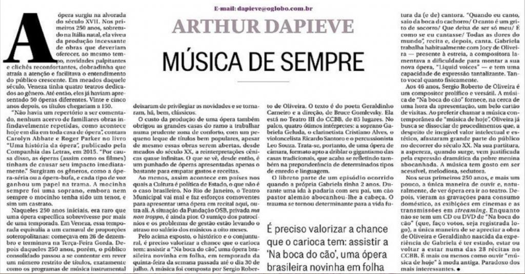 Arthur Dapieve | Música de Sempre